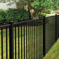 Wayside – State Line of Aluminum Fence 4 ft. H x 6 ft. W Texas Metal Fencing Wayside – State Line of Aluminum Fence 4 ft. H x 6 ft. W Texas Metal Fencing Metal Fence Panels, Garden Fence Panels, Diy Fence, Fence Landscaping, Backyard Fences, Front Yard Fence Ideas, Metal Garden Fencing, Metal Fences, Vinyl Fencing