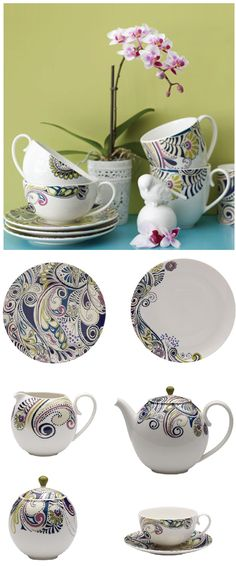 Incredible paisley patterned dinnerware by Monsoon Home available at Denby