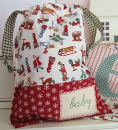 I want to make my own Santa Sacks like this one this year