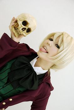 This is ok Alois Cosplay but I was just wondering whether the tongue star is photoshopped or not.