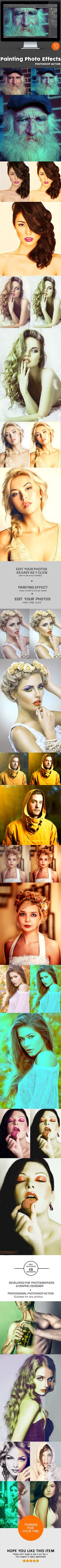 10 Painting Photo Effects  Photoshop Action — Photoshop ATN #light #effect • Available here → https://graphicriver.net/item/10-painting-photo-effects-photoshop-action/10814096?ref=pxcr
