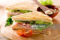 View top-quality stock photos of Panini Sandwiches With Ham And Lettuce. Healthy Eating Recipes, Healthy Snacks, Menu Dieta, Light Recipes, Organic Recipes, No Cook Meals, Food Hacks, Crockpot Recipes, Food Porn