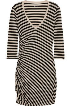 Striped jersey dress   ---   guess I will be watching the calories to pull off this dress.