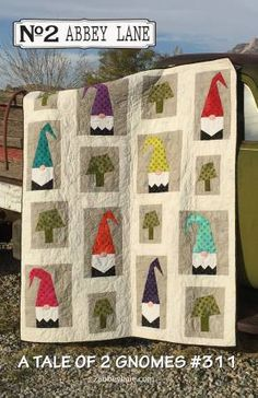 A Tale of Two Gnomes quilt sewing pattern from Abbey Lane Quilts Cute! There are 2 different quilts included in this pattern. Quilting Projects, Sewing Projects, Applique Quilt Patterns, Noel Christmas, Xmas, Patchwork Quilting, Barn Quilts, Quilt Making, Quilt Blocks