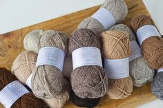 Purl Alpaca Designs' yarn is available in 10 different natural and undyed shades. All superbly soft and luxurious! #alpaca #local #ethical #yarn #wool #knitting