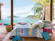Bedroom with a REAL view…  via KAS Australia