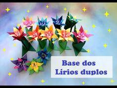 LÍRIOS DUPLOS DE ORIGAMI - BASE - YouTube