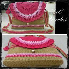 CIRCLE PINK COVER BAG ZeE Crochet