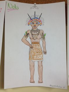 Costume design for Nala in New Guinean Lion King