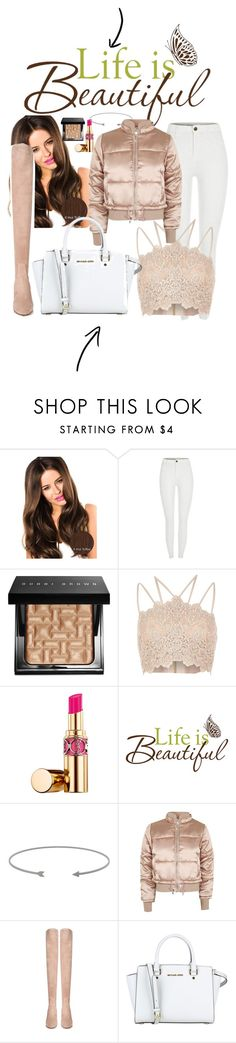 """At school"" by jaymagic ❤ liked on Polyvore featuring Bobbi Brown Cosmetics, River Island, Yves Saint Laurent, Topshop, Valentino and MICHAEL Michael Kors"