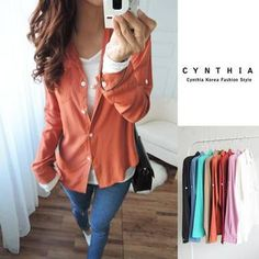Buy 'CYNTHIA – Long-Sleeve Shirt' with Free International Shipping at YesStyle.com. Browse and shop for thousands of Asian fashion items from Taiwan and more!