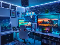 We inspire you to create your very own computer setup, workstation and battlestation. Best Gaming Setup, Gaming Room Setup, Desk Setup, Gaming Chair, Pc Setup, Gamer Setup, Cool Gaming Setups, Gamer Bedroom, Bedroom Setup