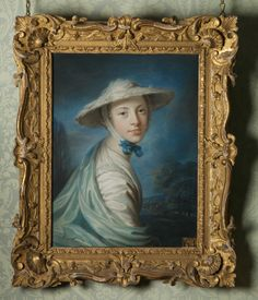 Another feathered hat! Barbara Throckmorton, Mrs Thomas Giffard (d. 1764) by William Hoare of Bath, RA (Eye 1707 – Bath 1792   135159 | National Trust Collections