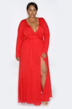 Siren Wrap Dress (Red)                                                                                                                                                                                 More