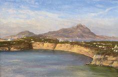 Thomas Fearnley (1802-1842): Fra Procida og Ischia med fjellet Epomeo