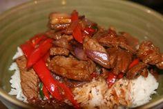 Thai recipies | Khao Pad Prik (Thai stir fried beef) Recipe
