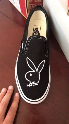 Playboy slip on custom vansYou can find Custom vans and more on our website.Playboy slip on custom vans Custom Vans Shoes, Mens Vans Shoes, Custom Painted Shoes, Nike Air Shoes, Vans Men, Painted Vans, Custom Slip On Vans, Cool Vans Shoes, Women's Shoes
