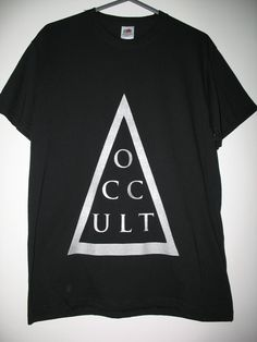 30c884996 OCCULT S - XXL t shirt top tee cult wiccan alternative goth witch Women  oversize pentacle men prism triangle