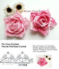Crochet Puff Flower, Crochet Flower Tutorial, Crochet Flower Patterns, Flower Applique, Crochet Designs, Crochet Flowers, Crochet Lace, Diy Flowers, Crochet Doilies