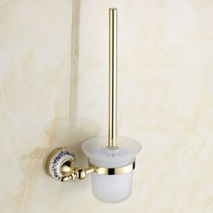 46.54$  Buy now - http://alidtg.worldwells.pw/go.php?t=32290027086 - Toilet Cup Holder Suit Bathroom Accessories Hardware Golden Space Frame Brush 2015 Rushed Toilet Paper Papel Higienico
