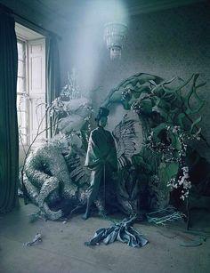 """Liu Wen & Xiao Wen Ju in """"Magical Thinking"""" by Tim Walker for W Magazine February 2012"""