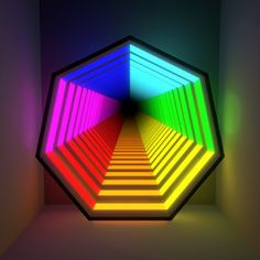 Infinite Mirror, Infinite Art, Neon Lighting, Strip Lighting, Modern Lighting, Mirror Illusion, Illusion Art, Infinity Spiegel, Museum Branding