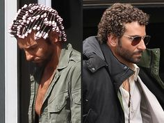 Hair Rollers Before and After | As much as we enjoyed seeing Bradley Cooper in tiny pink perm rollers ...