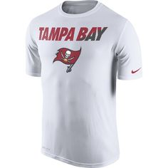 Tampa Bay Buccaneers - Official Online Store - Buccaneers Men's White Staff Practice Legend Tee by Nike
