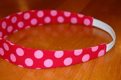 These cute fabric covered headbands are so easy to make and we're so glad we finally have a tutorial here on our website to share with yo...