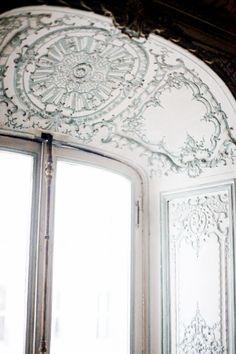 ❦ Ornate Parisian apartment window.