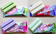 Japanese Kit Kat: green tea, shoyu, sweet potato and wassabi!