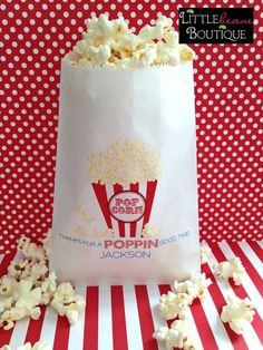 Popcorn Bags, Birthday favor bags, Circus Bags, Carnival bags, birthday party, Favor bags, Wedding, Bridal Shower ,Set of 24