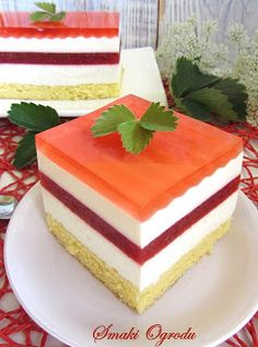 Smaki ogrodu: TRUSKAWKOWY RAJ Food Cakes, Cupcake Cakes, Cake Recipes, Dessert Recipes, Cake Bars, Polish Recipes, Homemade Cakes, No Bake Cake, Sweet Tooth