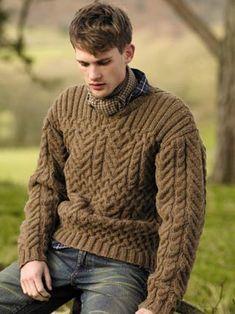 Pattern using Rowan Purelife British Sheep Breeds yarn.  Great man's sweater