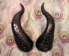 I NEED THESE for Halloween!! Wicked Black Pearl Maleficent Costume Horns Made to by prismmoon, $28.00