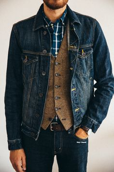 Men's Casual Outfit | Demim on Denim | Men's Fashion & Style | Shop Menswear, Men's Clothes, Men's Apparel & Accessories at designerclothingf... | Find Sport Coats, Blazers, Suits, Shirts, Polos, Pants/Trousers and More...