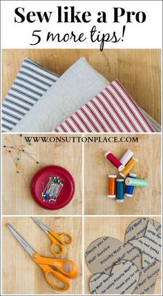 5 great tips that will give you professional results so you can sew like a pro!