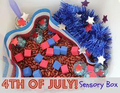 4th of July sensory box