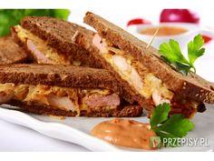Kanapka gyros Tzatziki, Bacon, Sandwiches, Lunch, Breakfast, Food, Breakfast Cafe, Eat Lunch, Essen