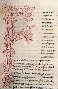 Battle in the F-top: Dragon hunt - Rouen - BM - ms. 0008, f.172 (from http://enluminures.cultures.fr).
