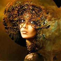 Karol Bak: Easel painting and drawing Fantasy Women, Fantasy Art, Arte Shop, Illusion Paintings, Illusion Art, Pics Art, Traditional Art, Female Art, Painting & Drawing