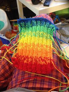 """Rainbow"" Scarf for Alyx"