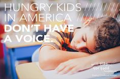 When you Join The Fight to END CHILDHOOD HUNGER  YOU speak up on behalf of America's Hungry Kids!   LIKE & SHARE THIS POST >>> WILL YOU SPEAK UP? Comment below and TELL US YOU'RE IN!!  willplayforfoodfoundation.org /// donationcentral.org