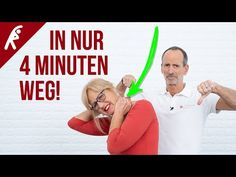 Nackenverspannungen in 4 Minuten lösen – Teste es selbst! This is your routine for neck pain and a tight neck. Interactive video + exercise instructions, perfect for in between. Physical Fitness, Yoga Fitness, Health Fitness, Fitness Exercises, Tight Neck, Big Biceps, Human Development, Sports Activities, Regular Exercise