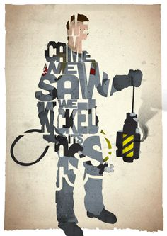 Typographic Movie Posters from 17th and Oak   Trendland: Fashion Blog & Trend Magazine
