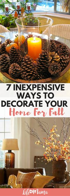 10 Inexpensive Ways To Decorate Your Home For Fall 10 Inexpensive Ways To Decorate Your Home For Fall,Herbst – Deko Decorating can get pricey! Luckily, we've rounded up some inexpensive ways to decorate your. Fall Home Decor, Cheap Home Decor, Diy Home Decor, Cheap Fall Decorations, Diy Thanksgiving Decorations, Dyi Fall Decor, September Decorations, Fall Apartment Decor, Room Decor