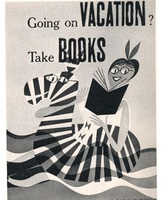 "vintage NYT ""book service"" poster by Rudi Bass"