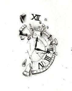 Tatto Clock, Broken Clock Tattoo, Clock Tattoo Design, Tattoo Design Drawings, Tattoo Sketches, Tattoo Designs Men, Pocket Watch Drawing, Pocket Watch Tattoo Design, Hourglass Drawing