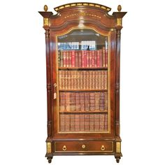19th Century Kingwood and Ormolu Bookcase Cabinet