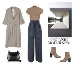 """Organic Modernism"" by princesssophia ❤ liked on Polyvore featuring Topshop, MSGM, Monki, Kara and modern"